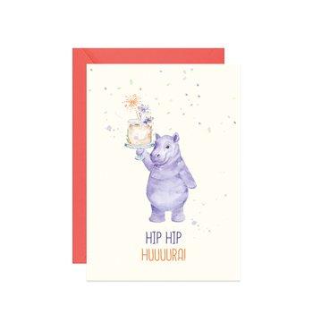 Karnet urodzinowy, A6, Hip hip hura!