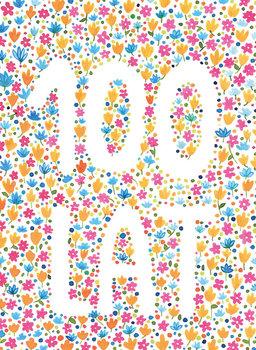 Karnet urodzinowy, B6, 100 lat