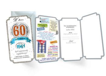 Karnet Urodziny 60 (cyfry, roczniki) 2021-Kukartka