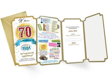 Karnet Urodziny 70 (cyfry, roczniki) 2021-Kukartka