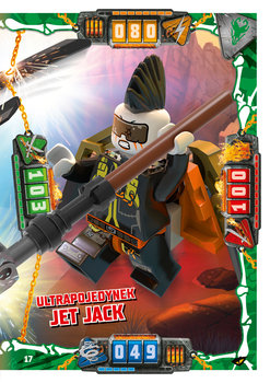 Karta LEGO NINJAGO TCG seria 4 - 17 Ultrapojedynek Jet Jack