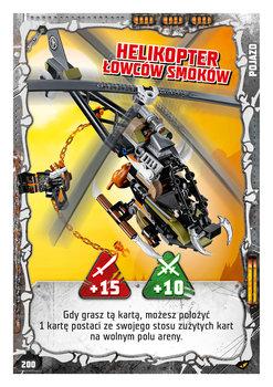 Karta LEGO NINJAGO TCG seria 4 - 200 Helikopter Łowców Smoków