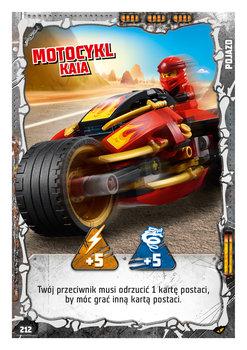 Karta LEGO NINJAGO TCG seria 4 - 212 Motocykl Kaia