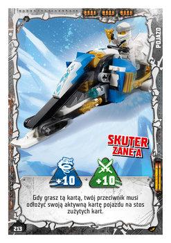 Karta LEGO NINJAGO TCG seria 4 - 213 Skuter Zane'a