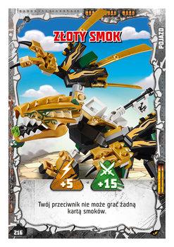 Karta LEGO NINJAGO TCG seria 4 - 216 Złoty Smok