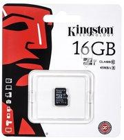 Karta pamięci KINGSTONE microSDHC, 16GB, Class 10