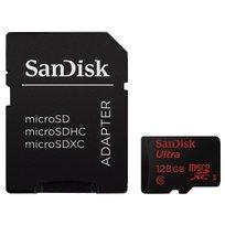 Karta pamięci SANDISK Ultra, microSDXC, 128 GB, Class 10 + adapter SD