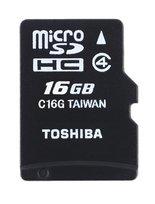 Karta pamięci TOSHIBA, microSD, 16 GB, Class 4