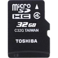 Karta pamięci TOSHIBA microSD, 32 GB, Class 4 + adapter SD