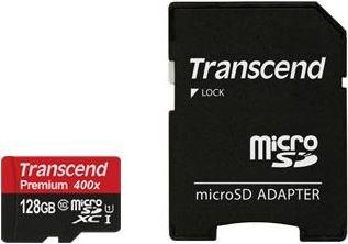 Karta pamięci TRANSCEND Ultimate TS128GUSDU1, MicroSDXC, 128 GB + adapter-Transcend