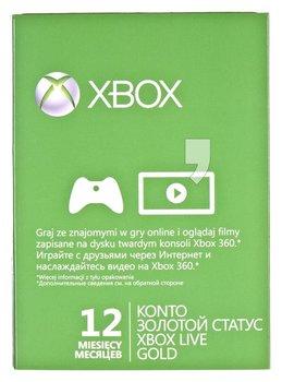 Karta Xbox Live.Karta Xbox Live Gold 12 Miesiecy Xbox 360 Microsoft Gry I