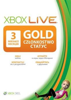 Karta Xbox Live.Karta Xbox Live Gold 3 Miesiace Xbox 360 Microsoft Gry I