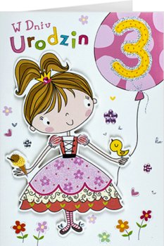 Kartka na 3 latka dla dziewczynki M 692-Maja