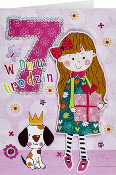 Kartka na 7 urodziny dla super dziewczynki M 700-Maja