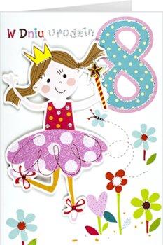 Kartka na 8 urodziny dla księżniczki  M 702-Maja