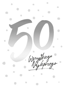 Kartka na jubileusz 50 urodzin, PCVision 4-Kukartka