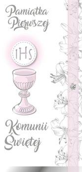 Kartka na Komunię dla dziewczynki, DL 95-Armin Style