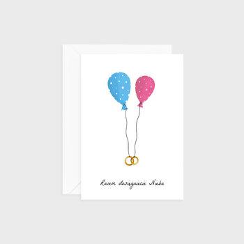 Kartka na ślub, Baloniki