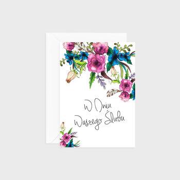 Kartka na ślub, Flower power