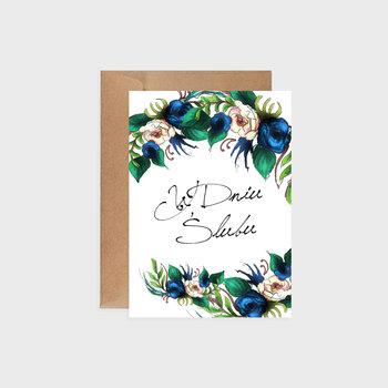 Kartka na ślub, Indigo flowers