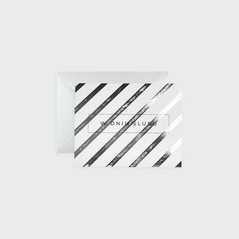 Kartka na ślub, Silver stripes
