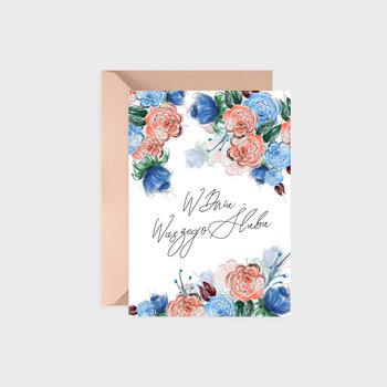 Kartka na ślub, Subtle flowers