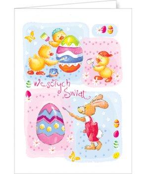 Kartka na Wielkanoc z życzeniami  PBW-T 18-Czachorowski