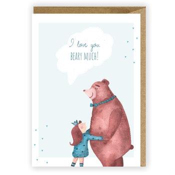 Kartka okolicznościowa,karnet, I love you beary much-Cardie