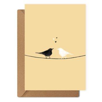 Kartka okolicznościowa Ptaki + eko koperta-Munnar