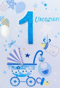 Kartka POP-UP na Roczek dla chłopca PUP2-Panorama