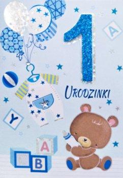 Kartka POP-UP na Roczek dla chłopca PUP4-Panorama