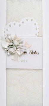 Kartka ślubna ręcznie zdobiona MRS 9-Maja