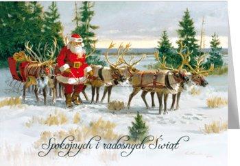 Kartka świąteczna retro bez życzeń  B-BT 595-Czachorowski