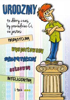Kartka urodzinowa dla chłopaka, Comic 16-Stamp