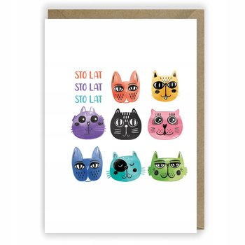 Kartka urodzinowa,karnet,koty-Cardie