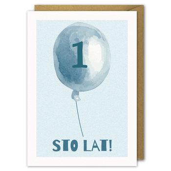 Kartka urodzinowa, Niebieski Balonik Roczek