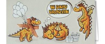 Kartka urodzinowa z dinozaurami EZ 85-ENZO