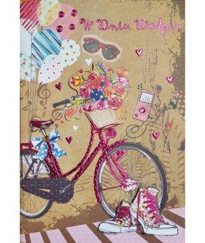 Kartka urodzinowa z rowerem M 566-Maja