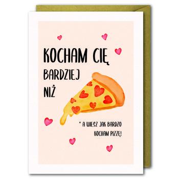 Kartka Walentynkowa, Kocham Cię bardziej niż pizzę