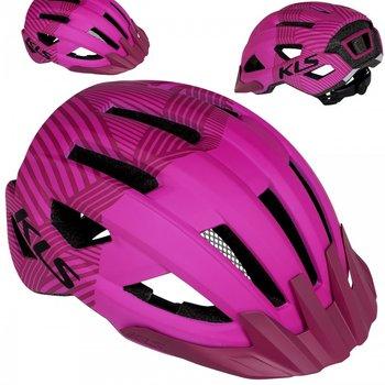 Kellys, Kask rowerowy, DAZE MTB z daszkiem, różowy, rozmiar S-Kellys