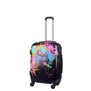 Kemer, Mała walizka kabinowa, Print, czarno-różowa, rozmiar S-KEMER