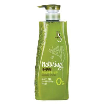 Kerasys, Naturing Nourising, odżywczy szampon do włosów cienkich i łamliwych z algami morskimi i oliwą z oliwek, 500 ml-Kerasys
