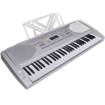 Keyboard elektryczny ze stojakiem na nuty-VidaXL