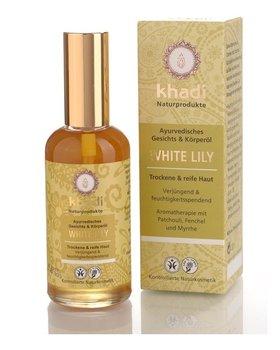 Khadi, Whity Lily, ajurwedyjski olejek do twarzy i ciała, 100 ml-Khadi