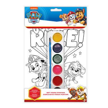 Kids Licensing, Psi Patrol, kolorowanka z farbami-Kids Licensing