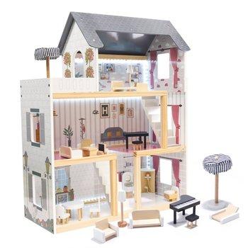 KIK, domek dla lalek z akcesoriami, czarny-KIK