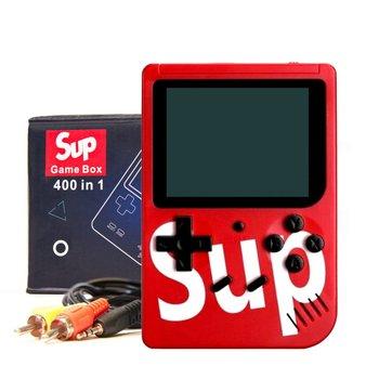 KIK, konsola przenośna Game Box 400 gier, czerwona-SUP