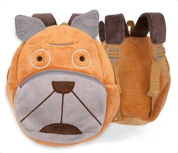 KIK, plecak przedszkolaka, pluszowy piesek, pomarańczowy-KIK