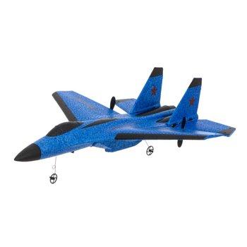 KIK, samolot zdalnie sterowany RC SU-35 odrzutowiec FX820, niebieski-KIK