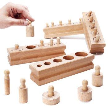 KIK, sorter Montessori Odważniki Cylindry -KIK